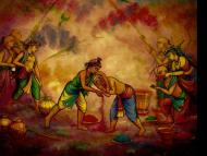 Throwing Coloured Dyes on Holi