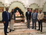 Prince of Udaipur visits Melbourne Temple