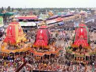 Puri Rath Yatra Draws Huge Crowd