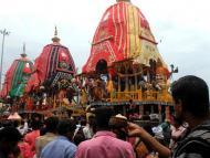 Puri Deities Return Home on Niladri Bije