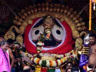 Puri Deities Sparkle in Golden Avatar