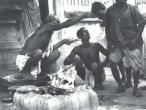 Activity at Kali Temple Calcutta 1944.jpg