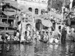 Bathing in the Ganges River Varanasi 1939.jpg