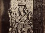 Durga at Halebid, Karnataka, 1856.jpg