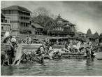 Pilgrims at Sacred Godavari River, 1928.jpg