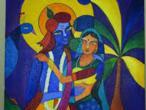 Radha Krishna - modern paintings 104.jpg