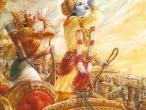Krishna Arjuna blow conches.jpg