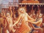 LC dances before Jagannatha distant.jpg