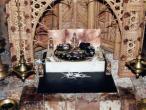 Gurukula Nrsinga salagram altar.jpg